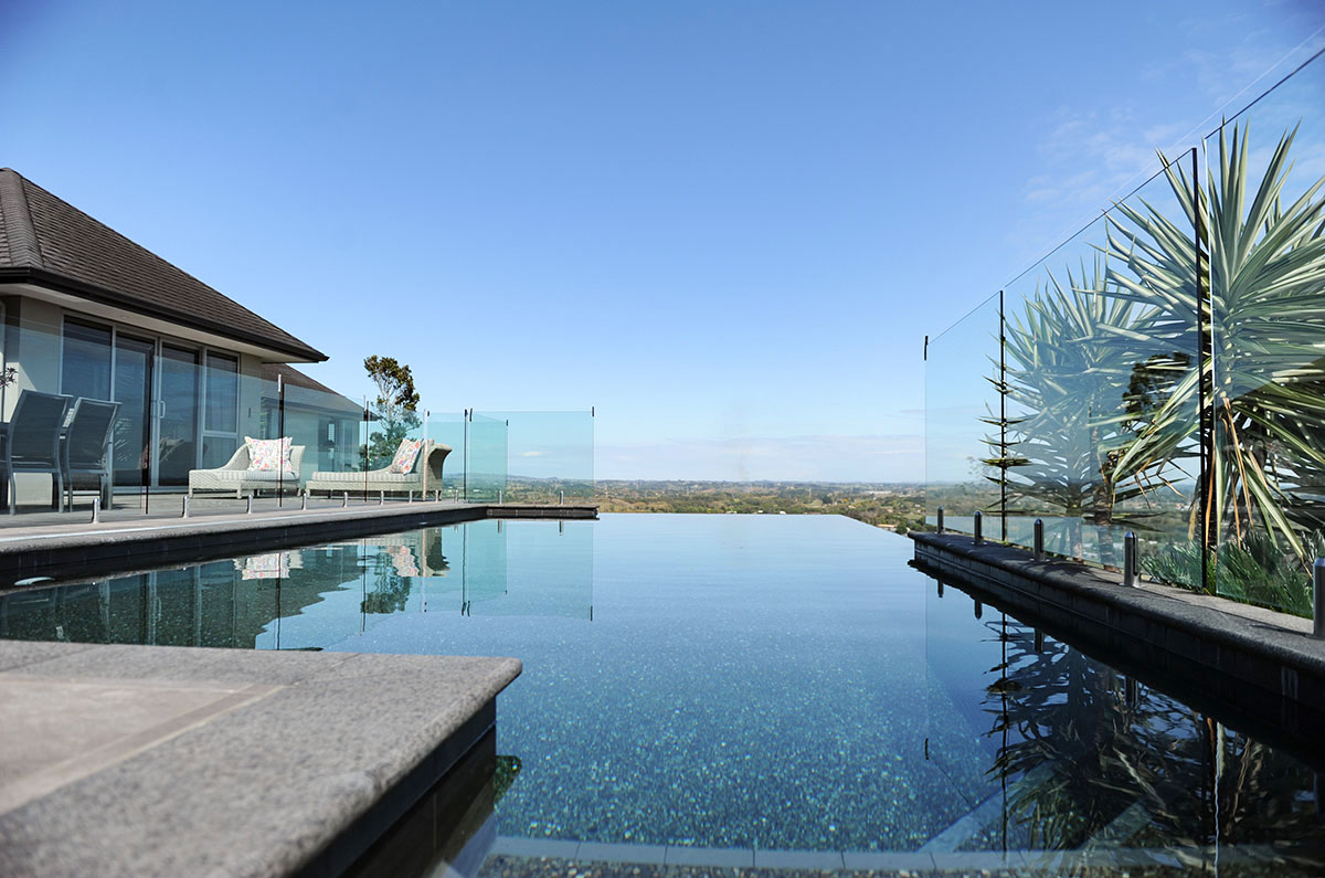 Quail Lodge Infinity Swimming Pool Drury Auckland